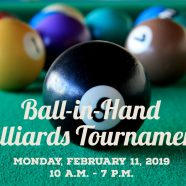 Ball-in-Hand Billiards Tournament