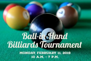 Ball-in-Hand Billiards Tournament @ J. Charley Griswell Senior Center