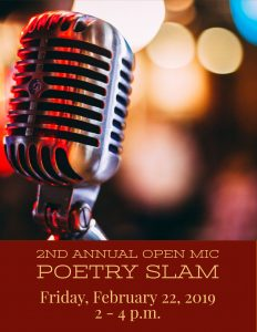 Second Annual Open Mic & Poetry Slam @ J. Charley Griswell Senior Center
