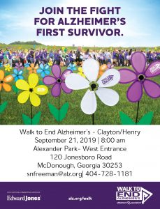 Join the Fight for Alzheimer's First Survivor @ Alexander Park