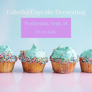 Colorful Cupcake Decorating @ J. Charley Griswell Senior Center